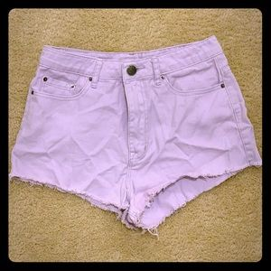 Lavender BDG High Rise Cheeky Shorts